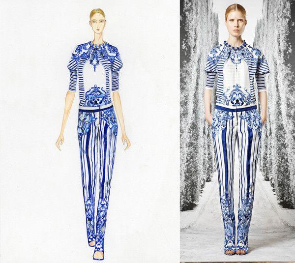 Fashion Illustration-Markers by Carmela Osorio Lugo, via Behance