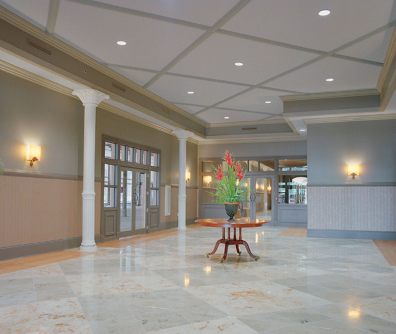 Interior Lobby of Loveman's Building in downtown