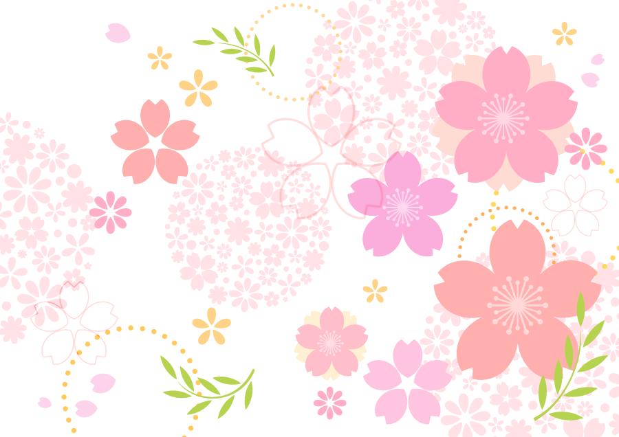 フリーイラスト サクラの花の和柄背景 Sakura In 2019 桜 イラスト
