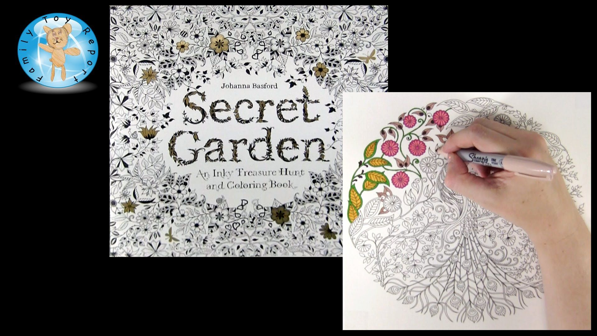 Secret Garden By Johanna Basford Adult Coloring Book Review Peacock
