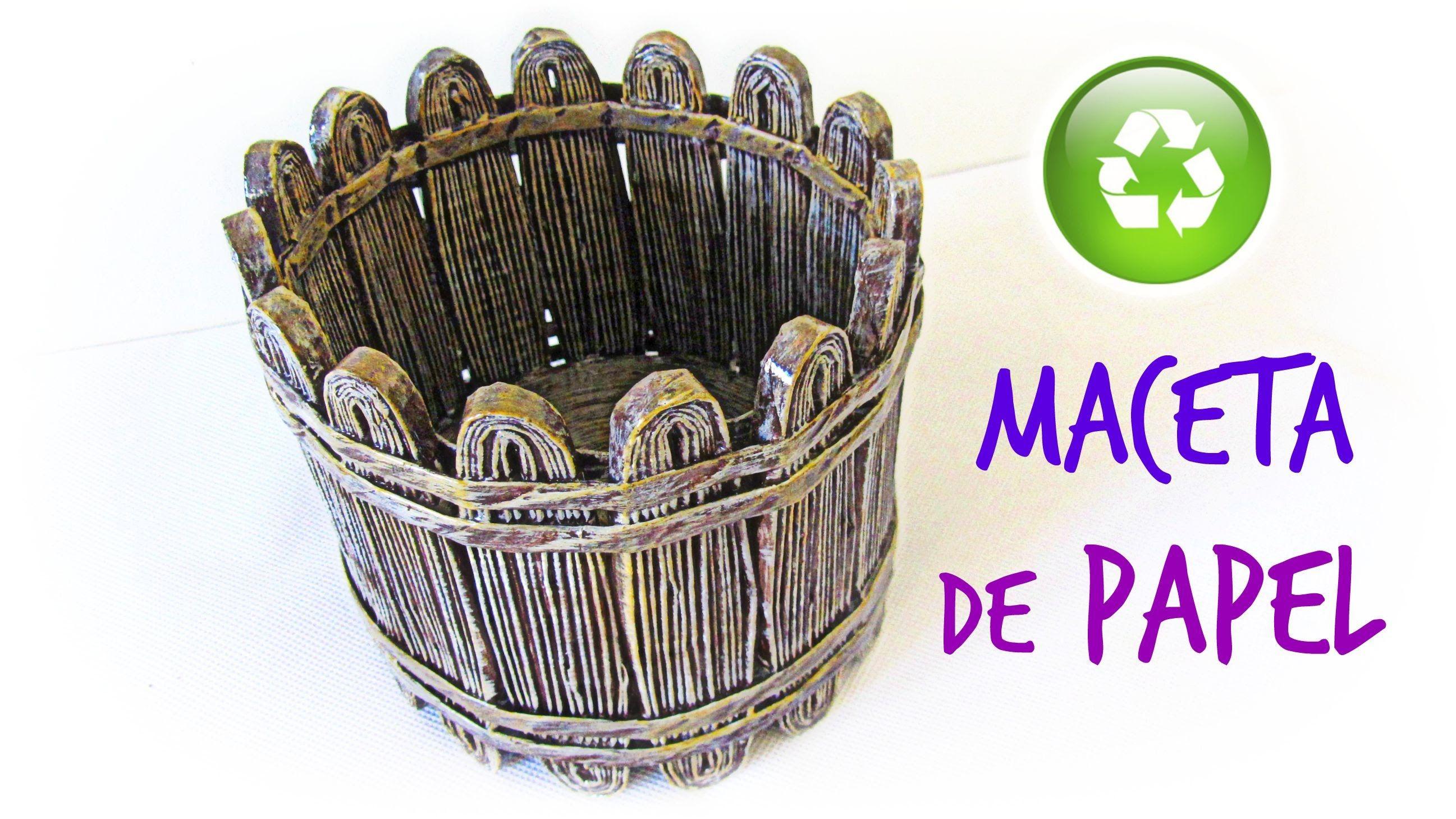 Pin de marlene arevalo en cester a con peri dico cestas - Cesta de papel de periodico ...