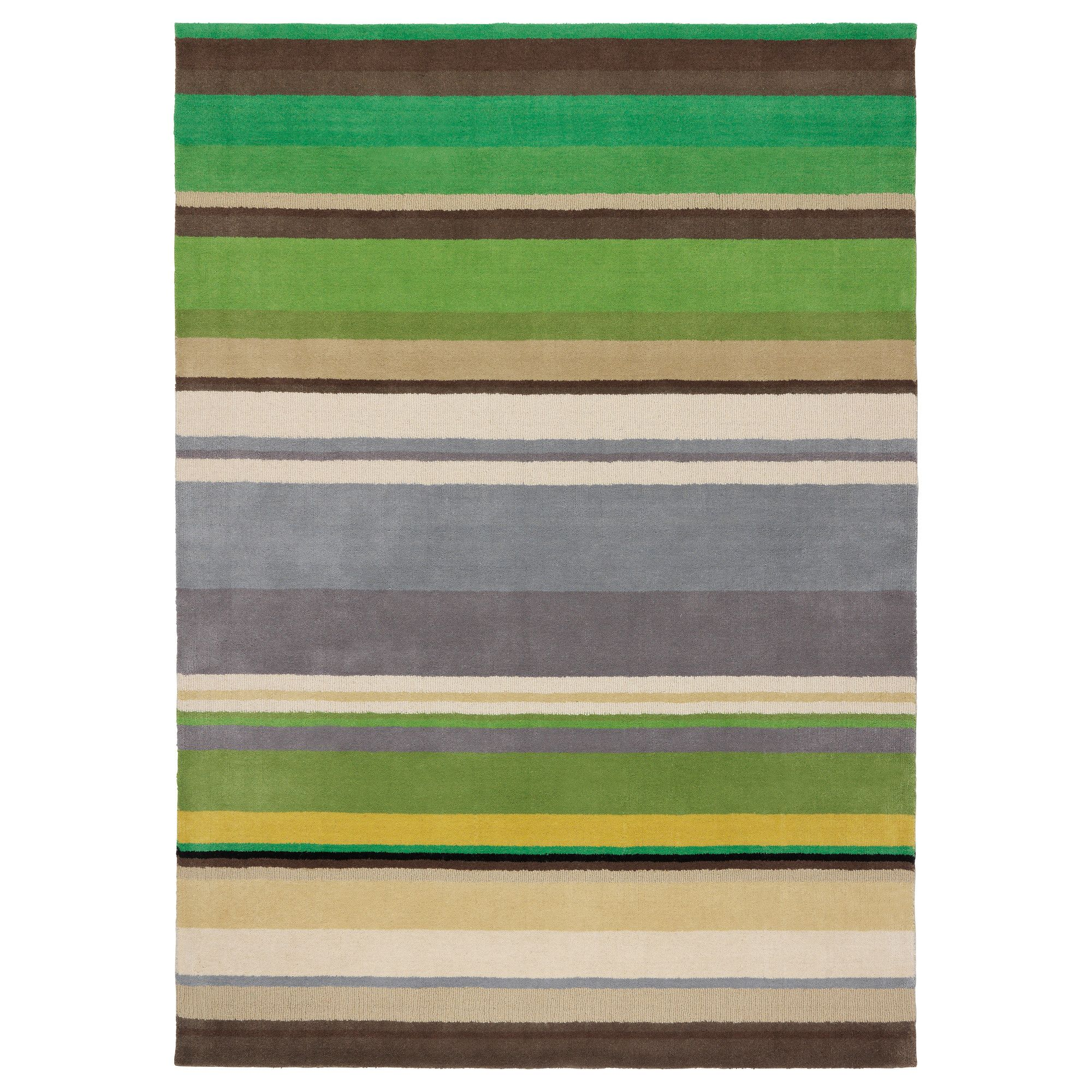 Ikea Rug Size Guide Usa: STOCKHOLM Rug, Low Pile, Green Handmade Green