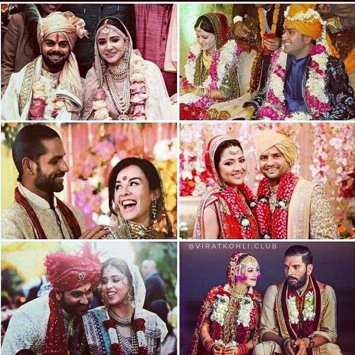 Indian Cricket Team Player Wedding Photo S Marrycan