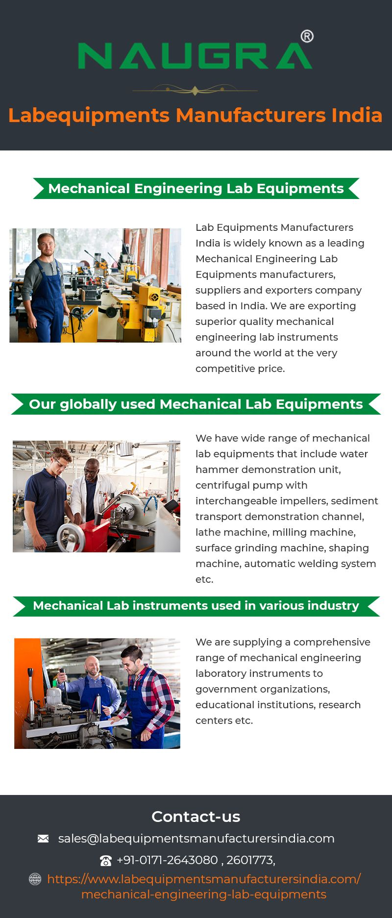 Lab Equipments Manufacturers India is the largest Mechanical