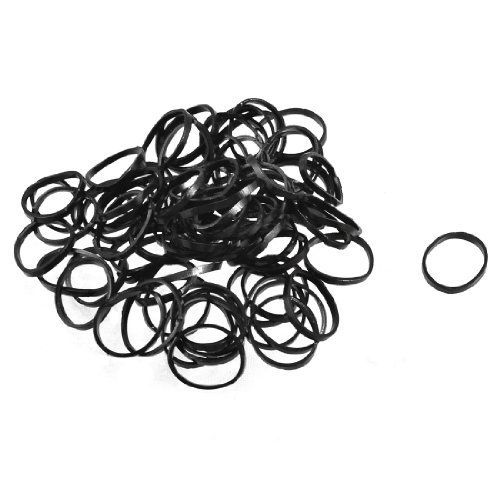 2 Bags Black Elastic Plastic Band Hair Tie Poneytail Holders
