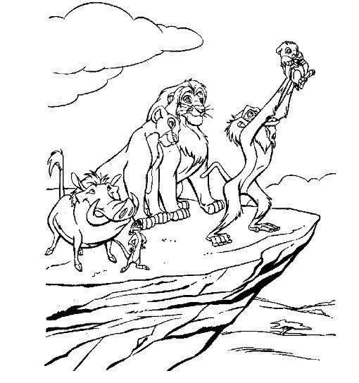 Lion King Coloring Page z Blank Pattern Lion King Pinterest