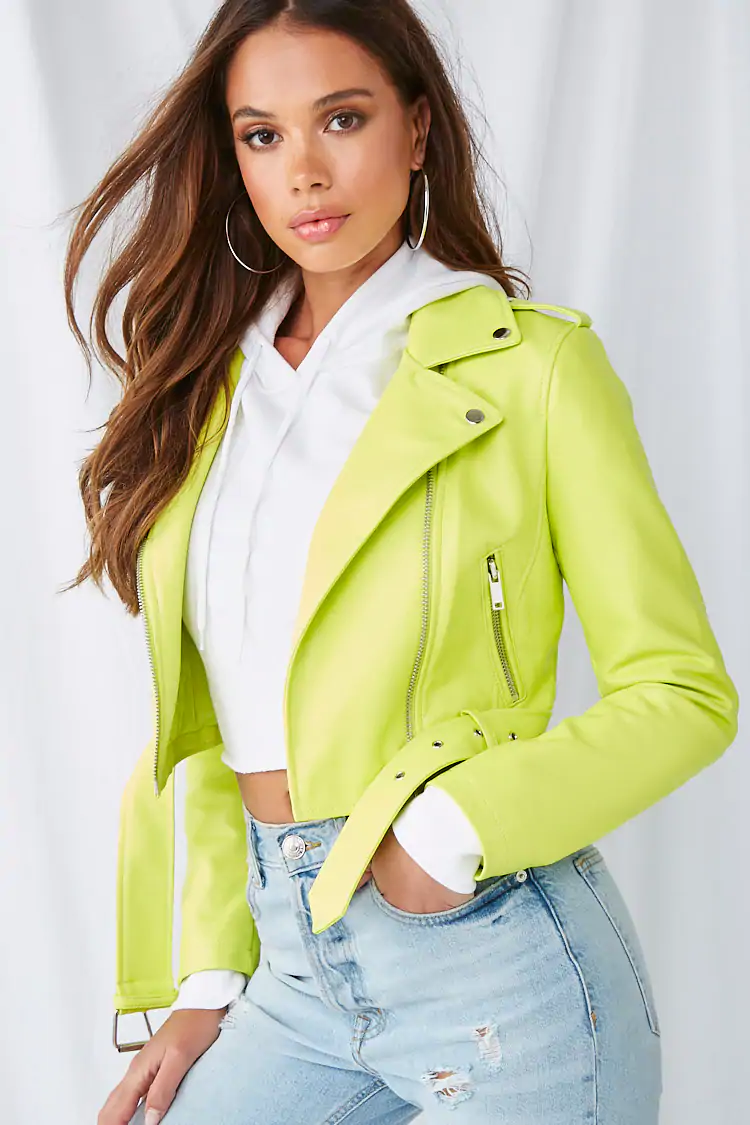 Faux Leather Moto Jacket Forever 21 в 2020 г