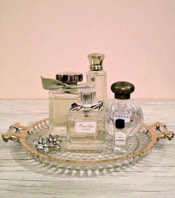 Georgia vanity tray | Pret T's | Perfume display, Vanity ...