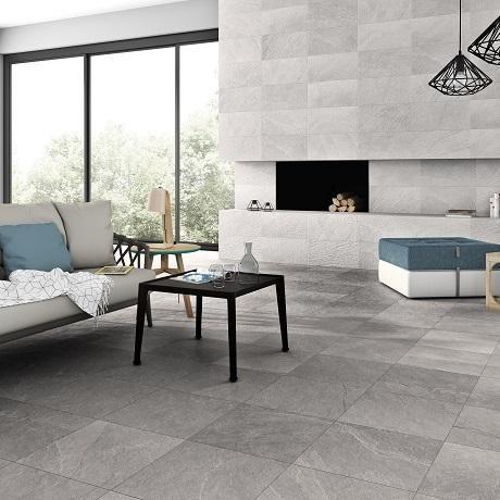 Vinaros Smoke Grey Wall Tile Grey Ceramic Kitchen Tiles Wall Tiles Shop Tileflair Grey Flooring Grey Floor Tiles Grey Walls
