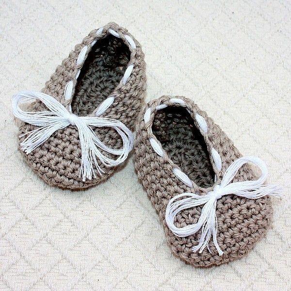 Crochet PATTERN - Baby Ballet Flats