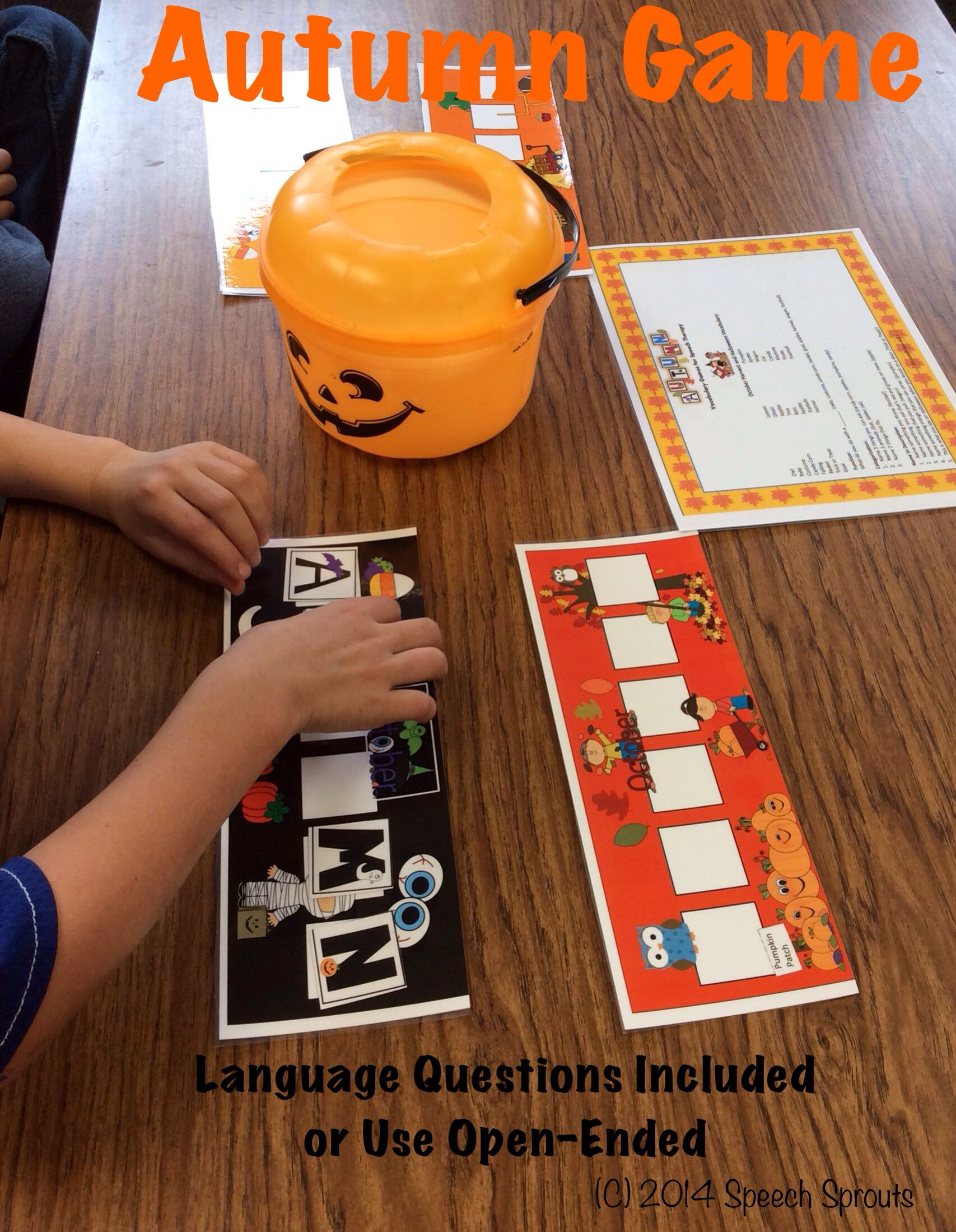 Fall Vocabulary Games Back To School Halloween Amp Thanksgiving
