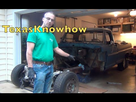 Crown Victoria Front End Swap Into A 67 Ford F100 Part 3 Youtube Classic Truck Classic Trucks Ford Trucks