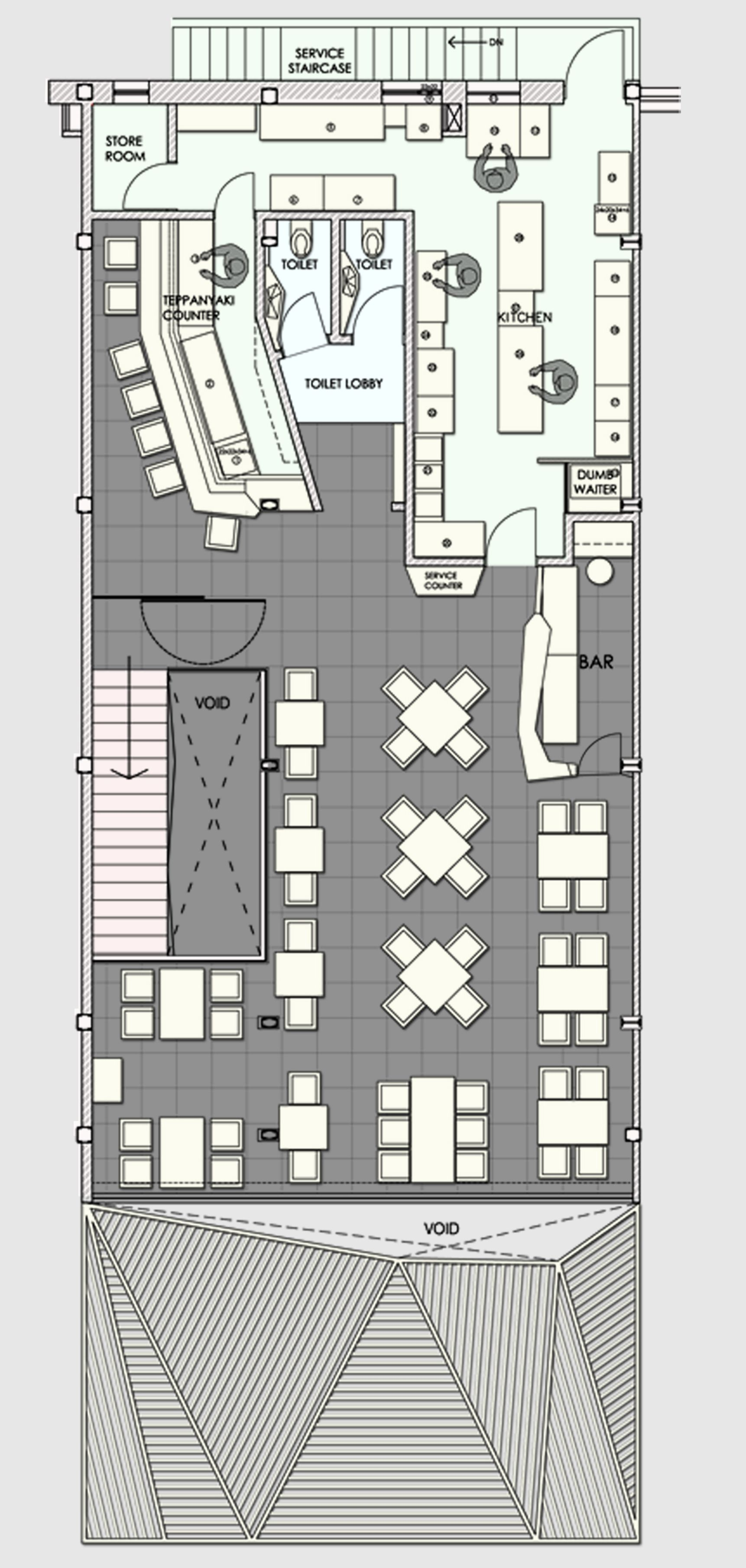 Restaurant Kitchen Layout Autocad galería de restaurant auriga / sanjay puri - 13 | restaurants