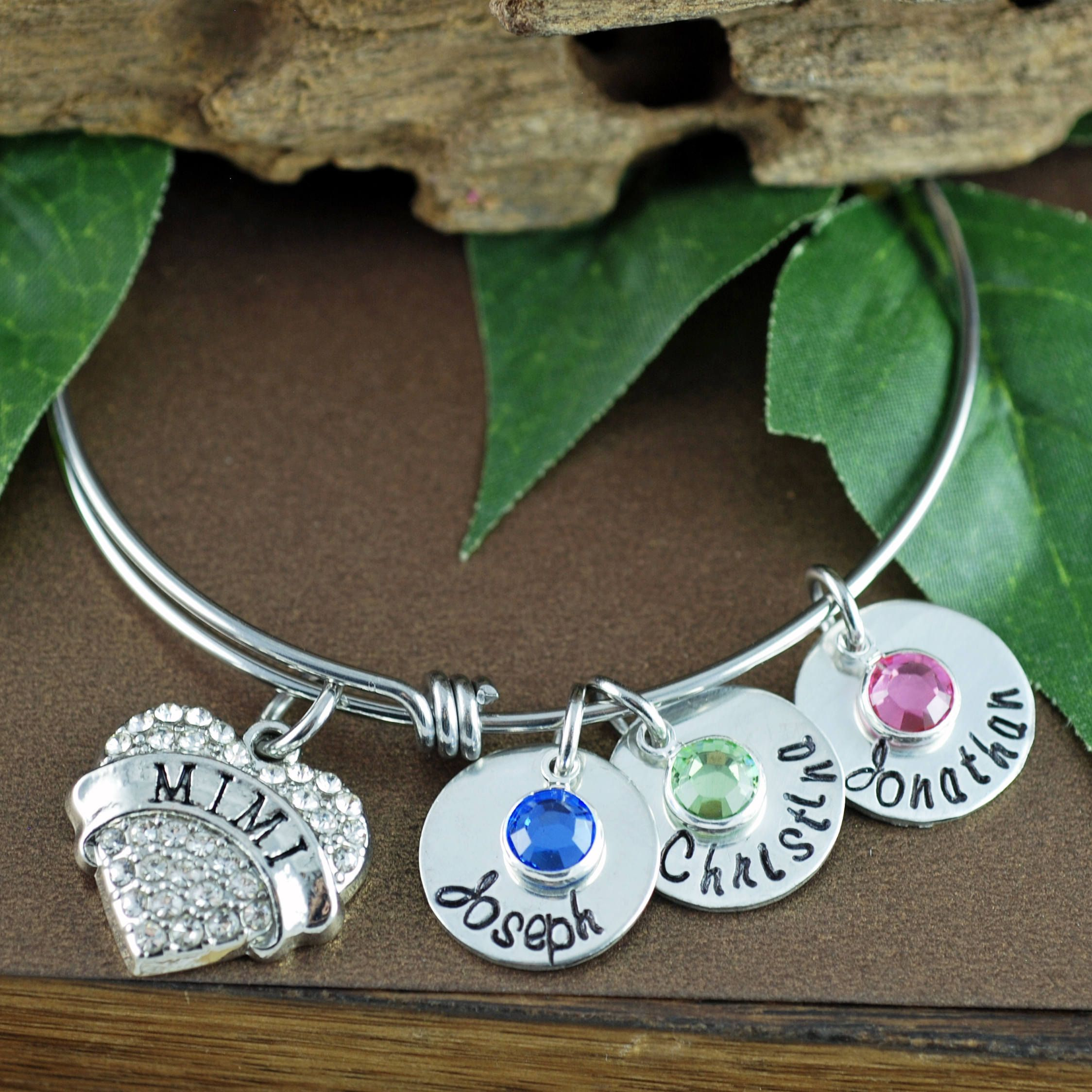 thank me birthday own bracelet listing fullxfull charm step birthstone grandma jewelry us mom in you il your gift as nanny loving present bangle mother for