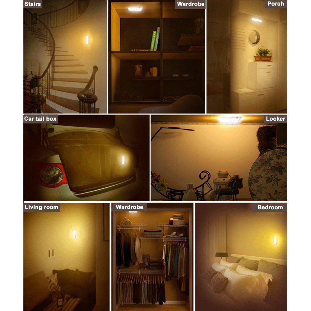 LED Sensor Nachtlicht Lampe Bewegungsmelde Wiederaufladbare Licht ...