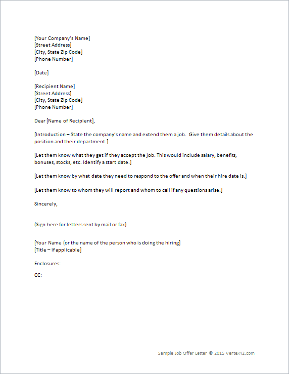Stock options letter template