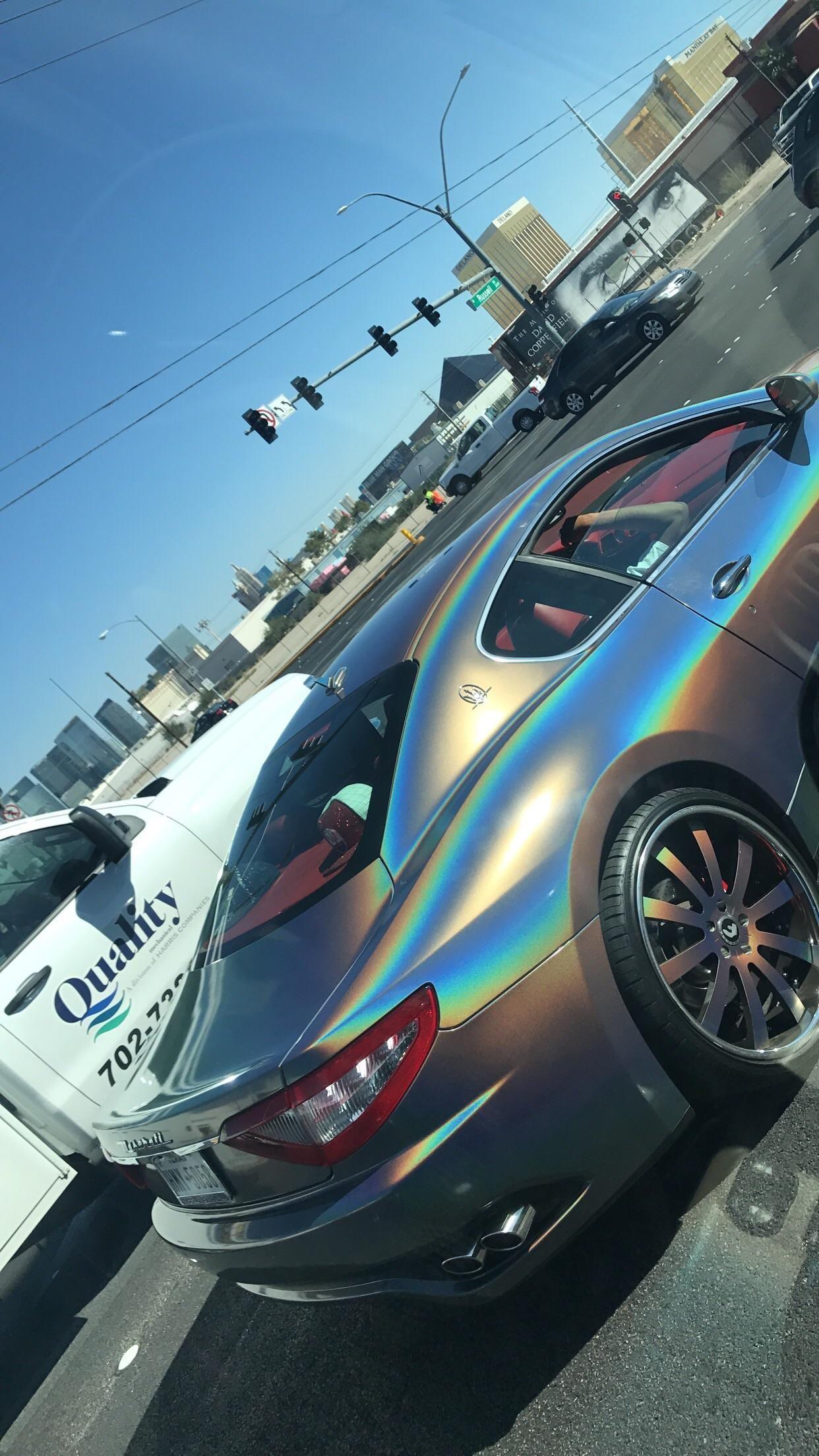The oil slick paint job on this Maserati ATBGE Pinterest