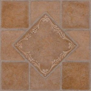 This Is Southwest Ceramic Pattern Each Peel Stick Floor Tile Is One Square Foot 12 X 12 1 2mm Thick And Vinyl Flooring Ceramic Floor Tiles Vinyl Tile