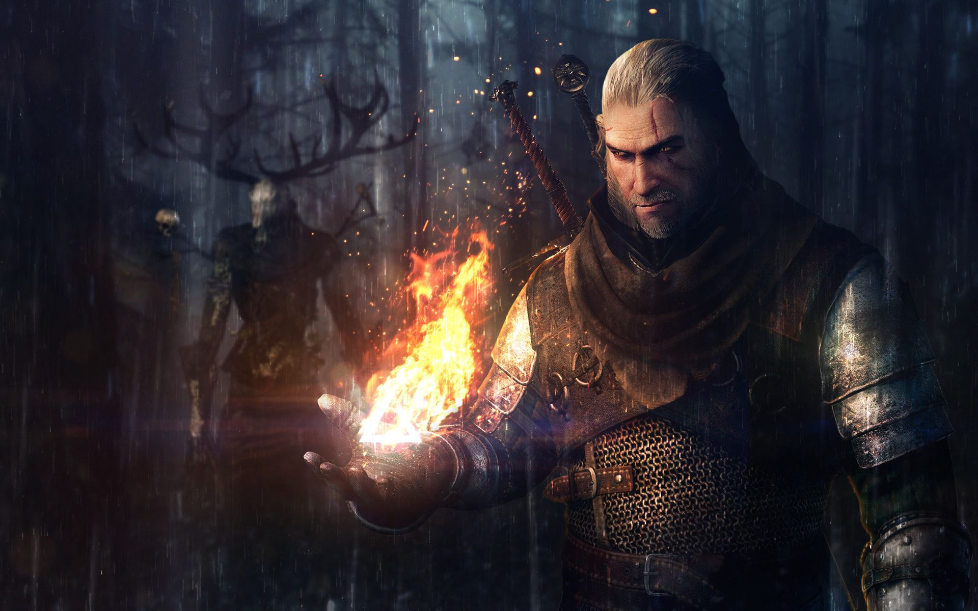 Video Game The Witcher 3 Wild Hunt The Witcher Geralt Of Rivia Hd Wallpaper Background Images 2 Wallpaper Cart The Witcher Geralt The Witcher Witcher Art