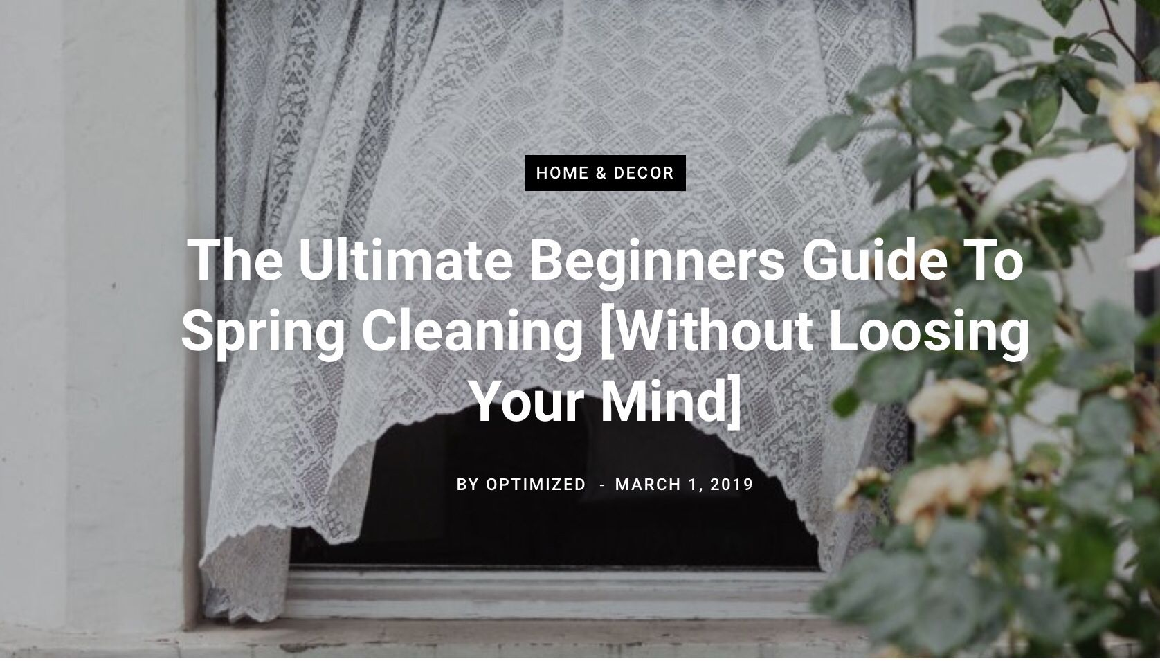 The Ultimate Beginners Guide To Spring Cleaning [Without