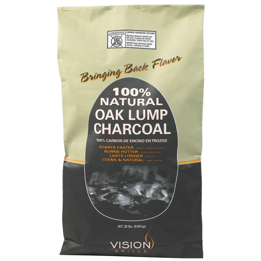 Vision Grills 100 Natural Mesquite Lump Charcoal 20 lb
