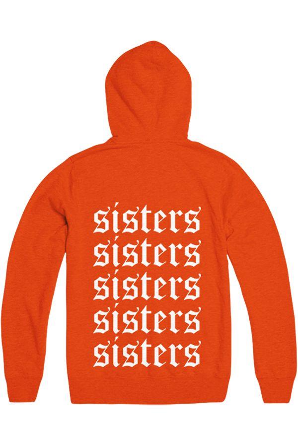 Sisters Hoodie | Orange | Yellow hoodie, Daddys girl clothes