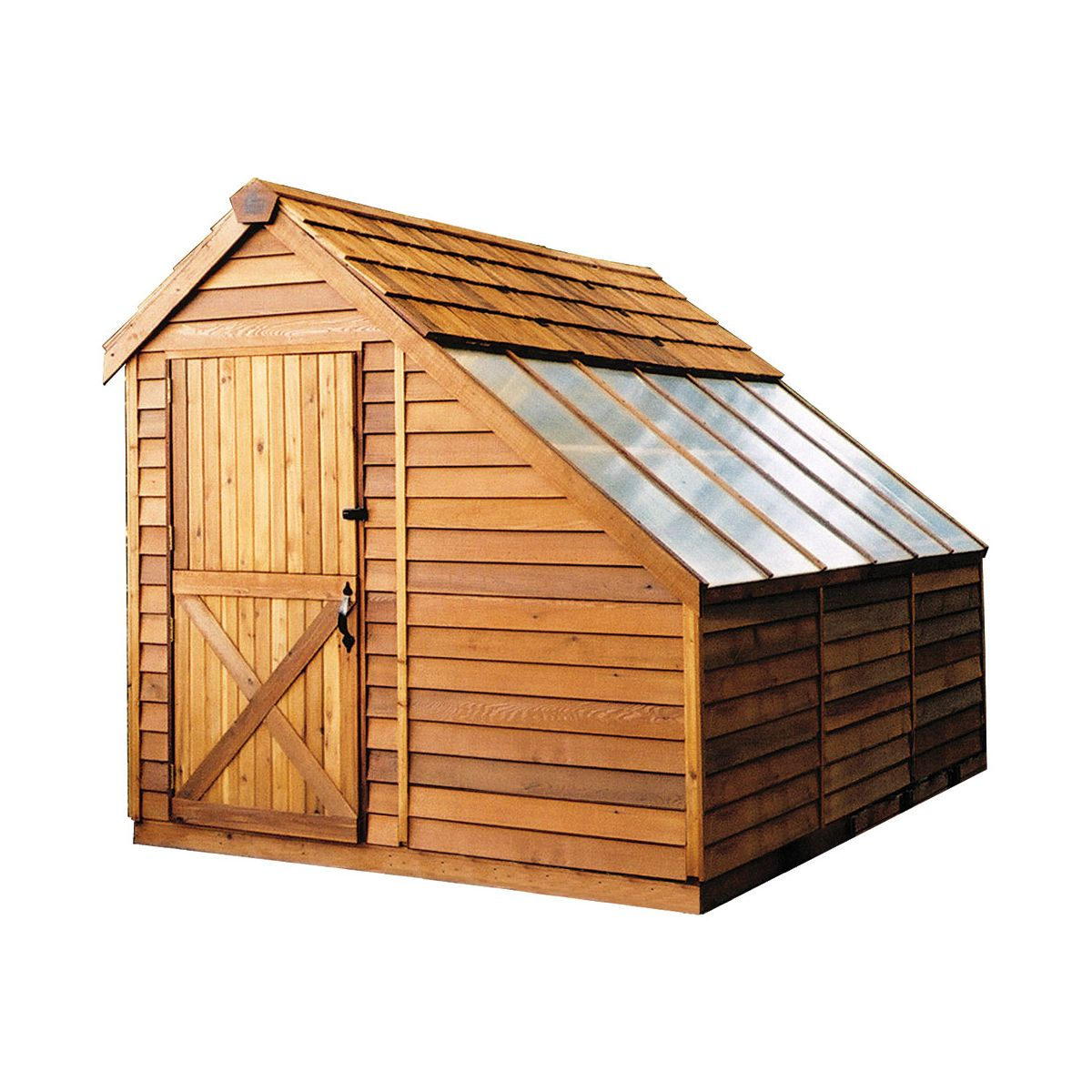 Shop Cedar Shed Sh8 Sunhouse Shed At Lowe S Canada Find Our Selection Of Storage Tool Garden Sheds At The Lowest Cedar Shed Diy Shed Plans Building A Shed