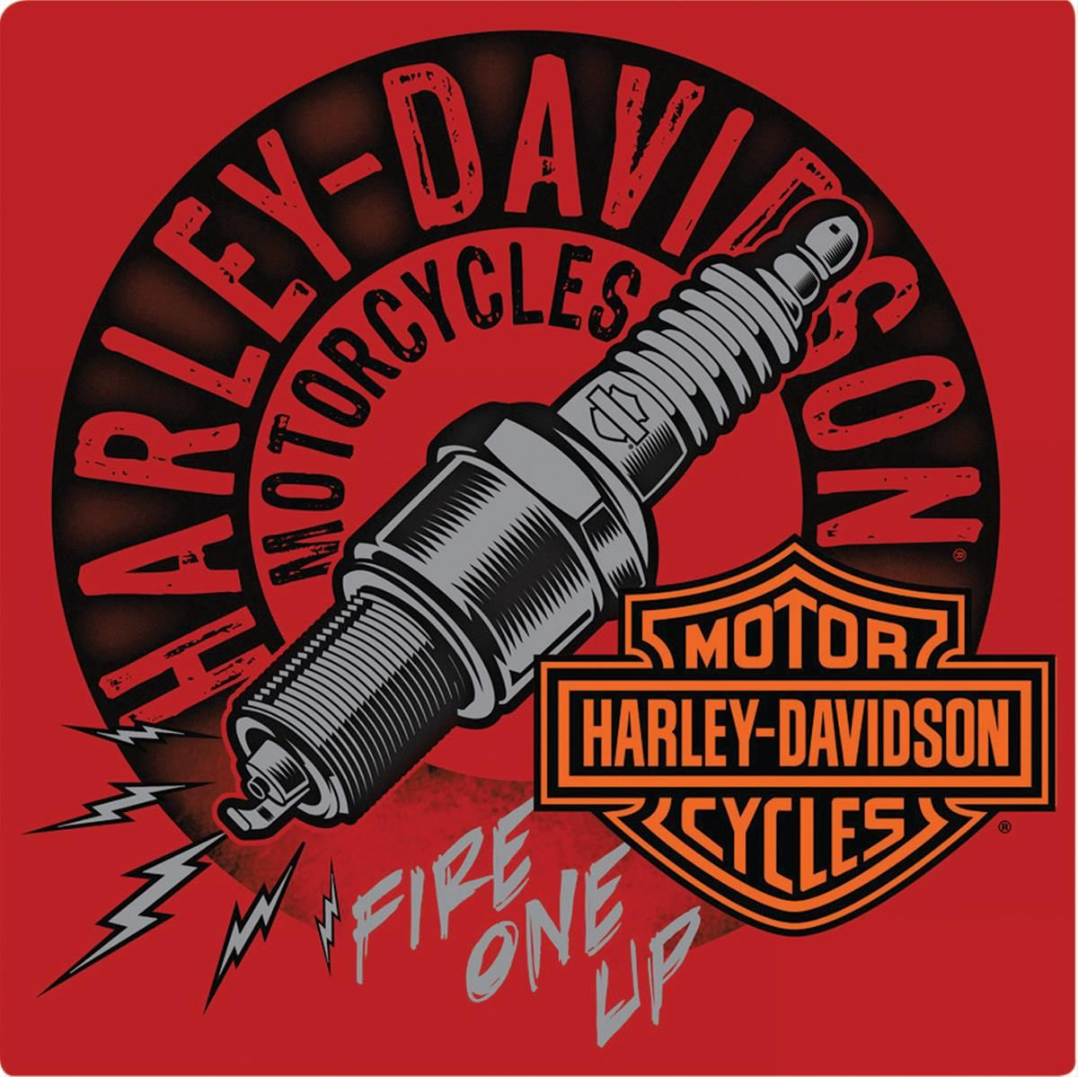 HarleyDavidson® Fire One Up Metal Sign Free Shipping on