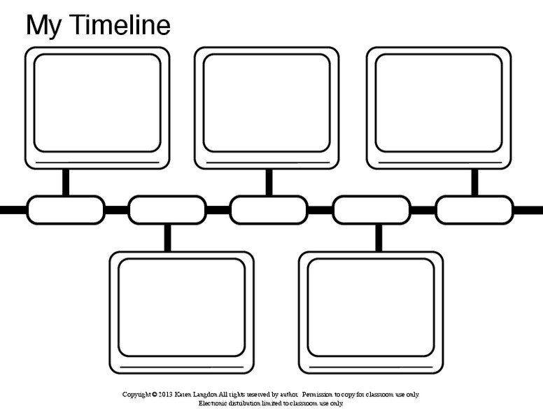 Free Printable Timeline Worksheets My Timeline Graphic Organizer For Kindergarten 5th Gra In 2021 Timeline Worksheet Third Grade Math Worksheets First Grade Worksheets Timeline worksheet for 2nd grade