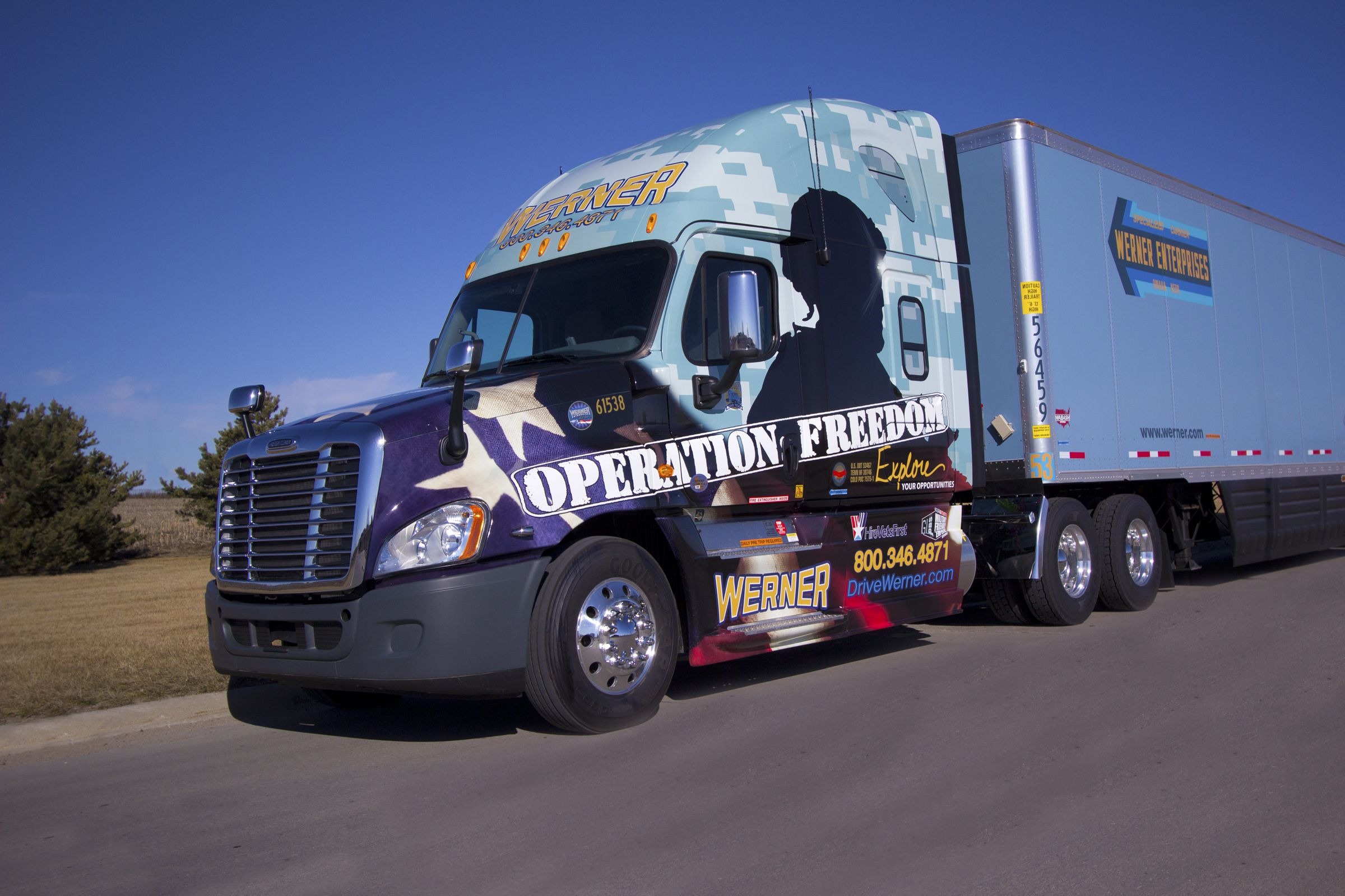 werner enterprises operation freedom truck