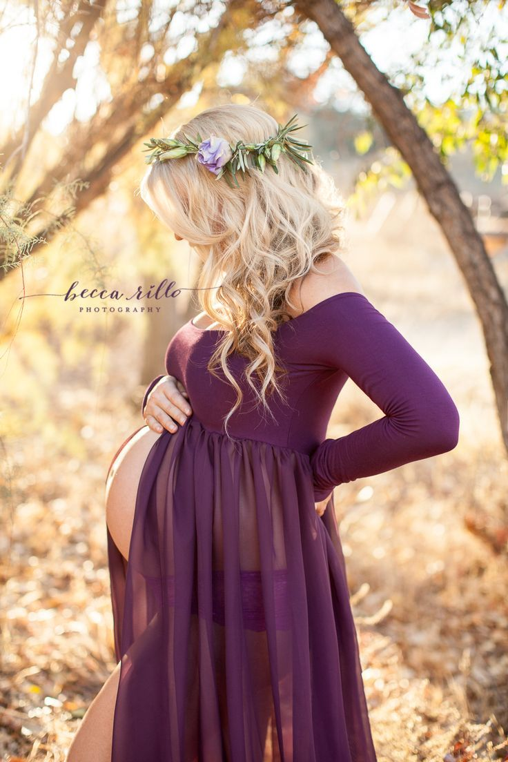 Maternity Gown • Roxy Gown • Long Sleeve Maternity Dress • Sheer ...