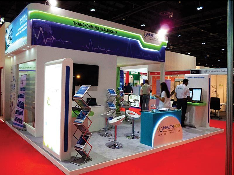 Custom Exhibition stand for Religare Arab Healthcare