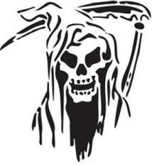 grim reaper reusable stencil dons hobby shop halloween in 2018