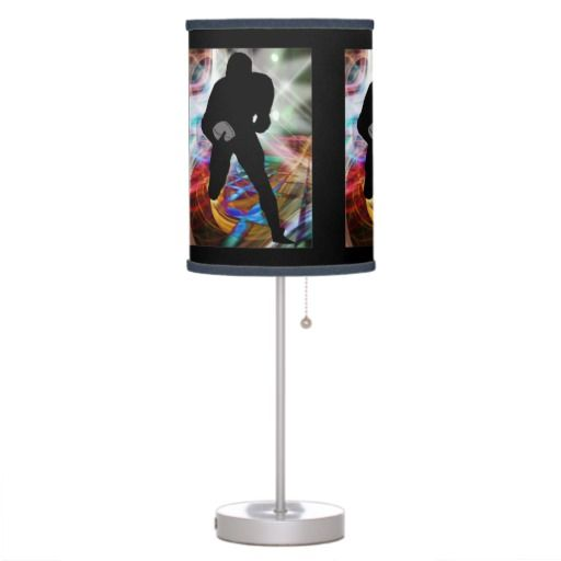 Football Friday Night Lights ANY COLOR BACKGROUND Table Lamp