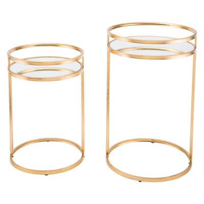 mercer41 cadbury 2 piece nesting tables gold nesting on exclusive modern nesting end tables design ideas very functional furnishings id=62841