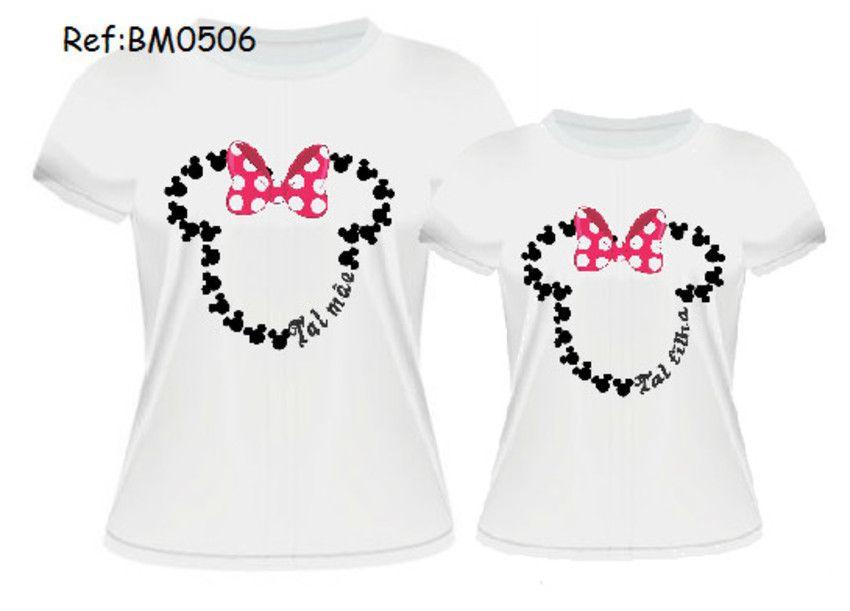 b5ccf01679 Minnie Lacinho R 29 Kit Blusa Tal Mãe Tal Filha Revenda a melhor coleção de  estampa