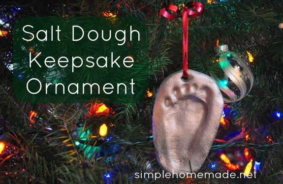 Easy Salt Dough Ornaments Ideas | Christmas keepsakes ...