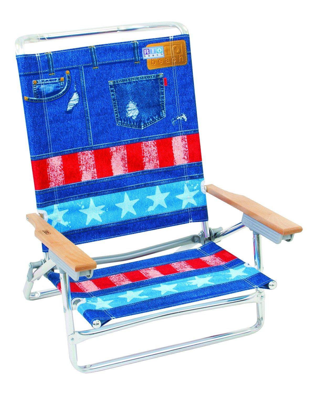 Camping comfort rio brands position classic lay flat beach chair