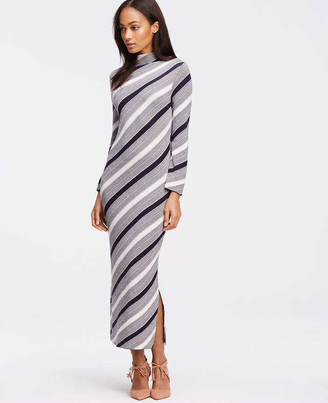 e37501bdd1df Striped Midi Sweater Dress