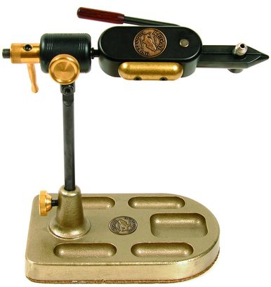 REGAL MEDALLION FLY TYING VISE W// STAINLESS JAWS /& POCKET BRONZE BASE