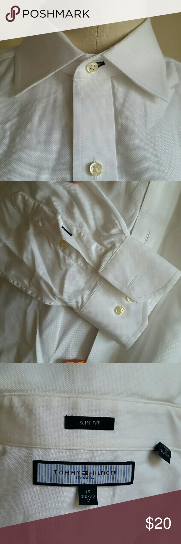 Men's Hilfiger Size 15, 32-33 Slim Almost like new, no wear or stains, slim fit Tommy Hilfiger Shirts Dress Shirts