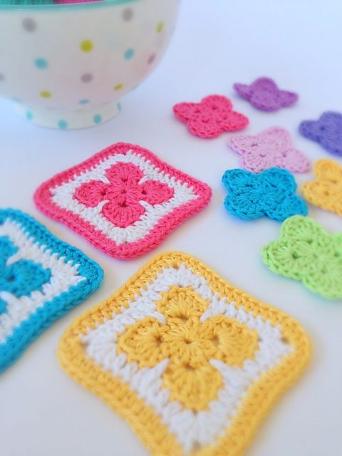 Free Pattern] Quick And Easy Little Flower Afghan Block Pattern ...