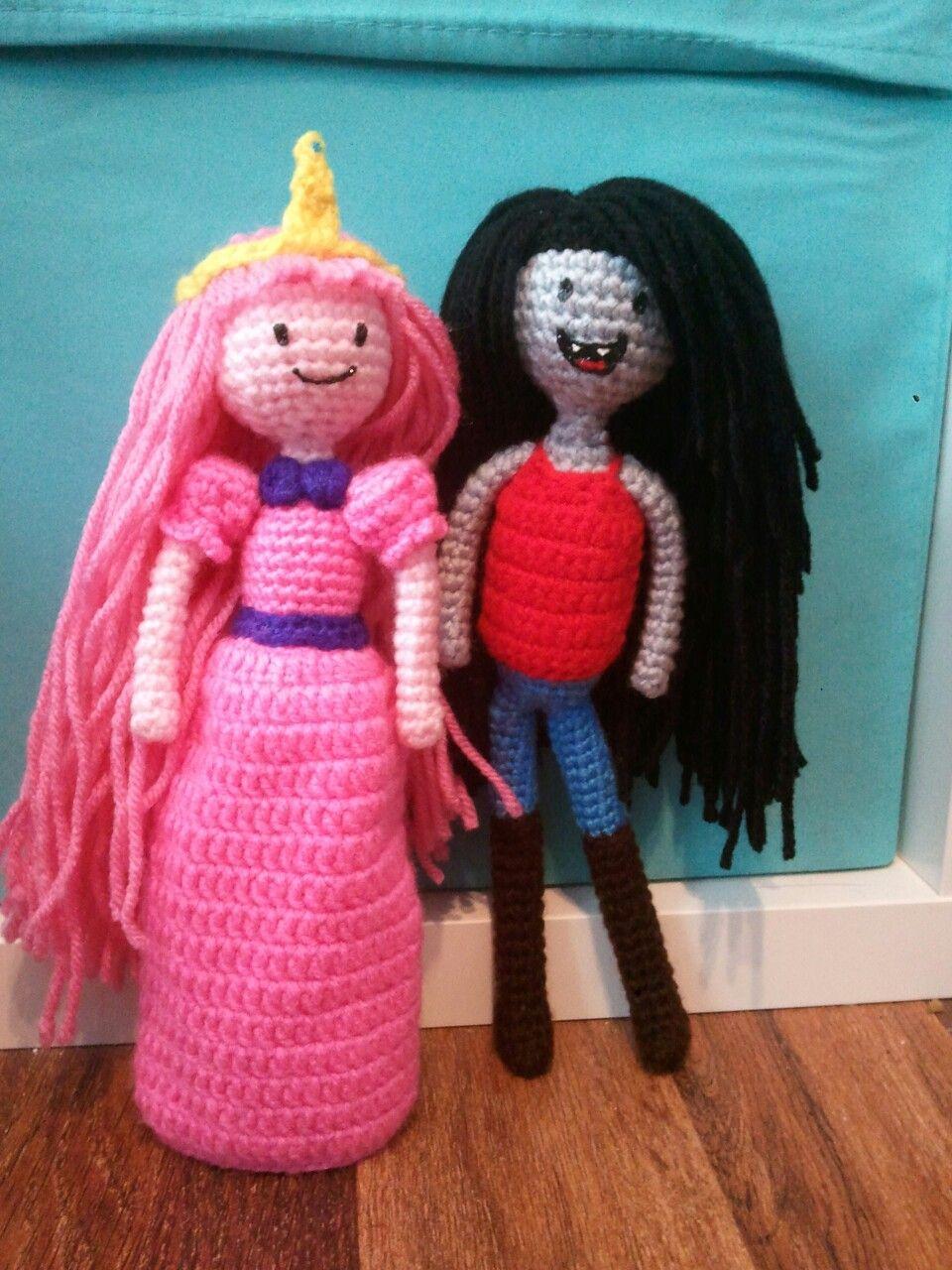 Princess Bubblegum and Marceline Inspired Amigurumi
