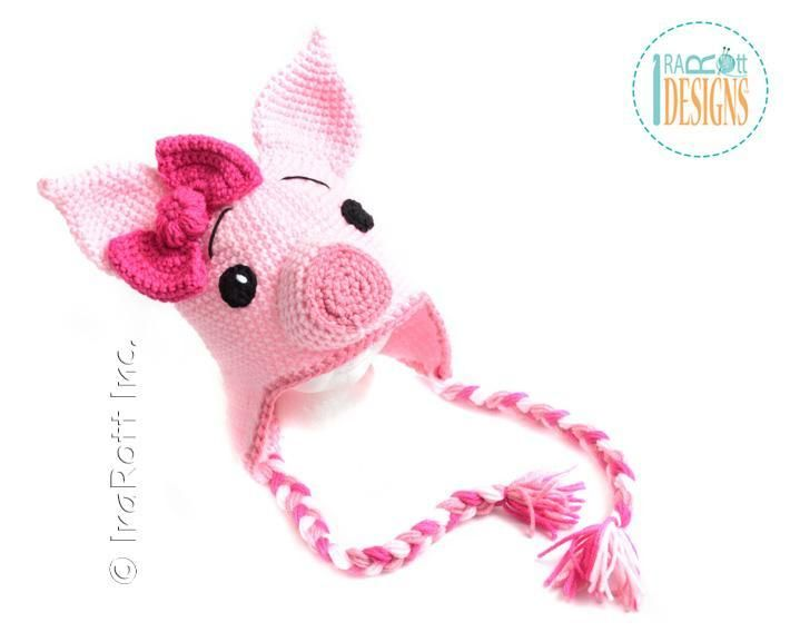 Pinky Piggy Pig Hat Crochet Pattern | Gorros y Guantes
