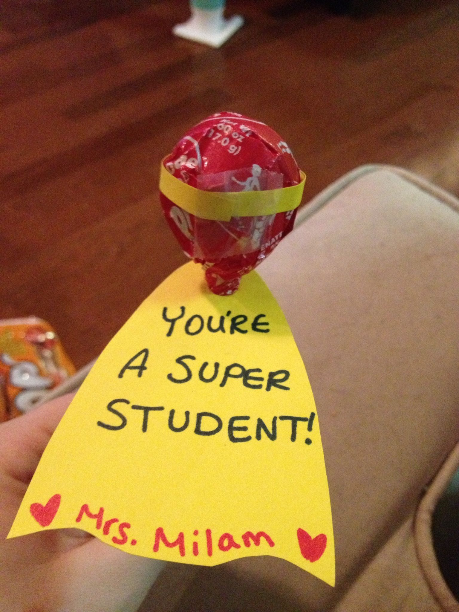 "Could change this to ""I think you're Super!"" and make classroom friend Valentine's out of the idea. Love options that are unisex and not at all suggestive.."