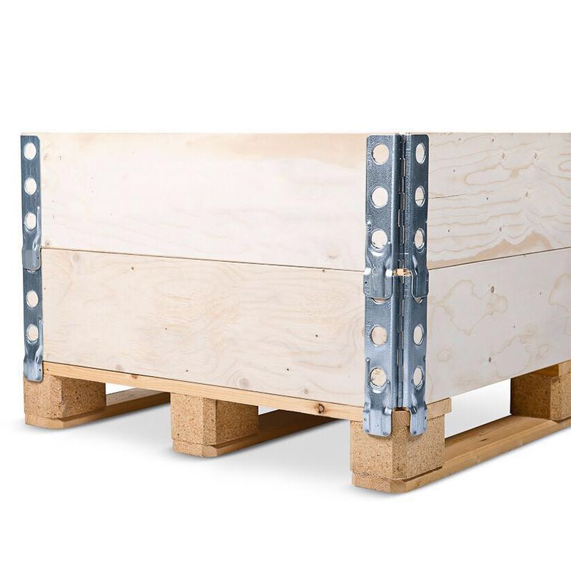 Customized Dimension Foldable Plywood Box With Pallet Collars And Handmade Holes Contact Sunny Tzjmy Com