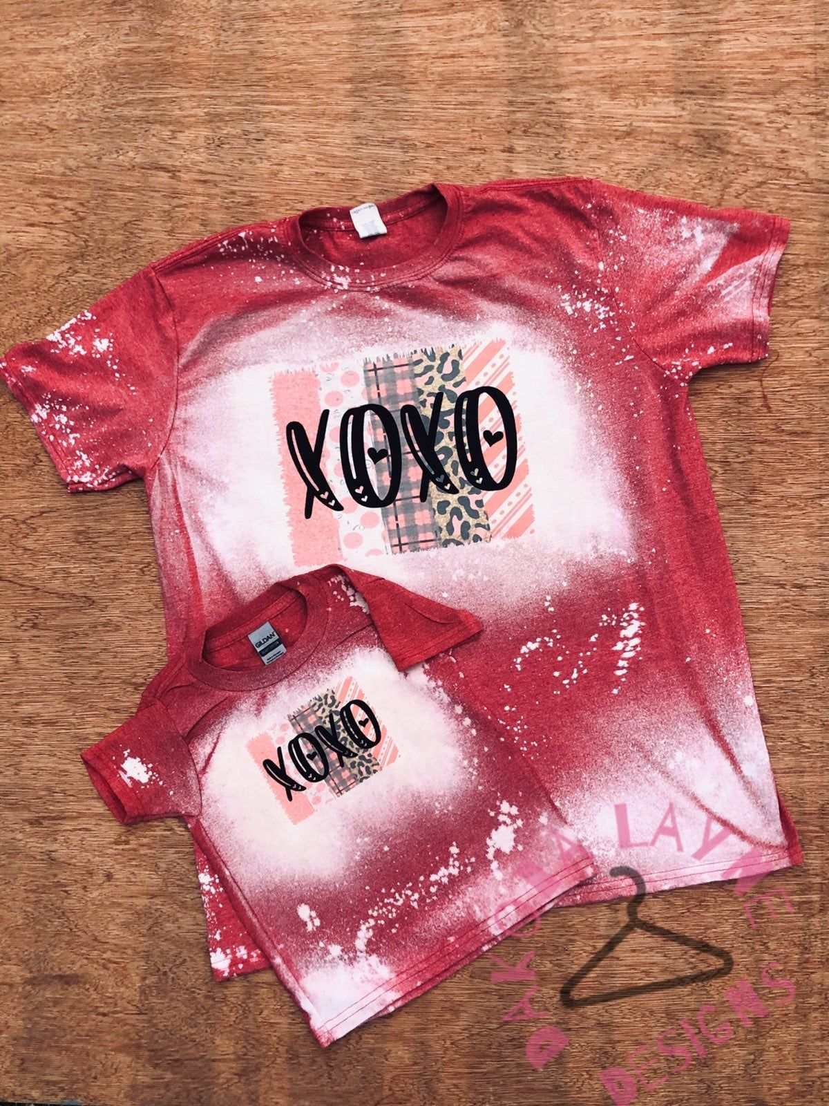 Pink VS unisex kids adult bleached distressed t shirt