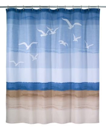 Avanti Seagulls Shower Curtain Reviews Shower Curtains Bed