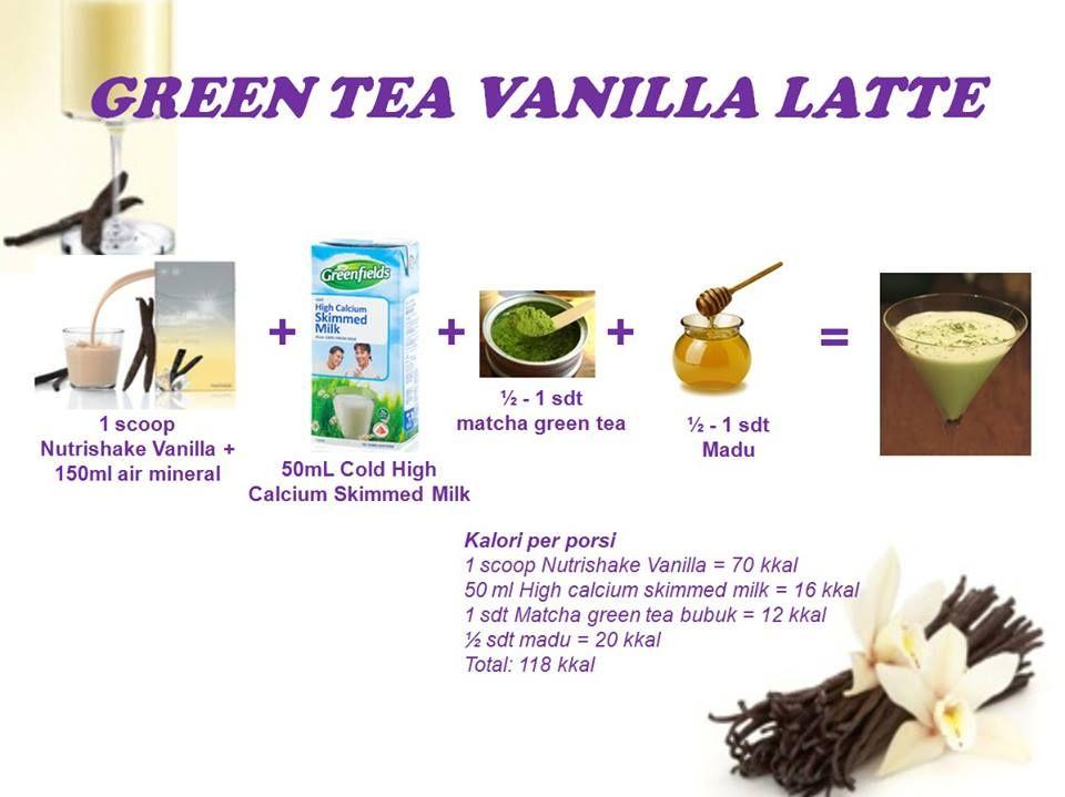 Nutrishake Green Tea Vanilla Latte Latte Vanilla Resep Sehat