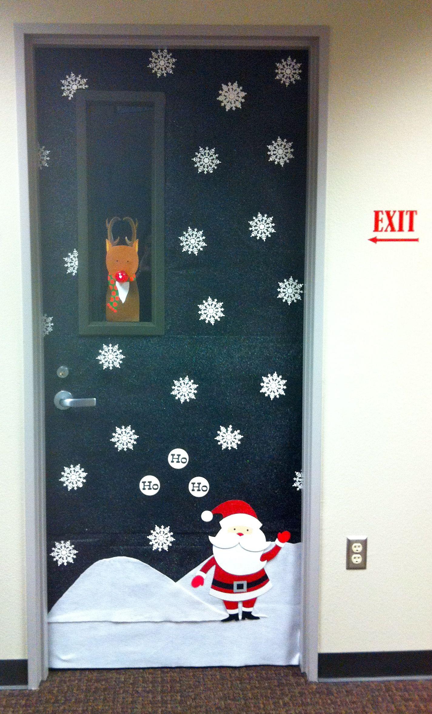 Christmas office door decoration school art pinterest